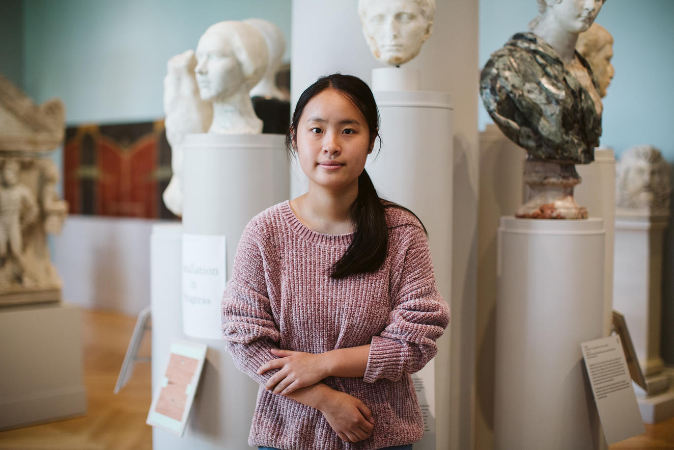 Portrait of RISD Art Circle member Jessyca